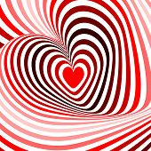 Design Hearts Twisting Movement Illusion Background