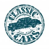 Classic cars grunge rubber stamp