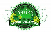 Spring collection green badge