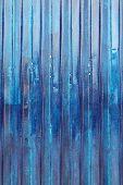 Blue Corrugated Panel