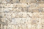 Limestone Block Wall