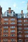 stock photo of kensington  - Luxury brick flats kensington south west london - JPG