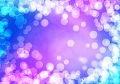 Abstract background purple image with bokeh lights