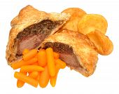 pic of beef wellington  - Traditional beef Wellington cut in half with filling exposed - JPG