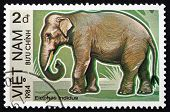 Postage Stamp Vietnam 1984 Indian Elephant