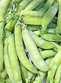 The Background Of The Pods Of Green Peas