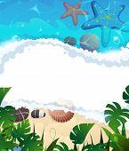 Tropical Beach Frame