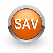 sav orange glossy web icon