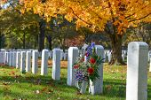 Arlington National Cemetery in Autumn - Washington D.C. United States