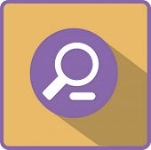 Flat Vector Zoom Out Icon