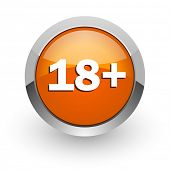 adults orange glossy web icon