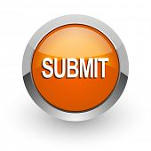 submit orange glossy web icon