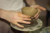 Potter Makes Products Of Clay