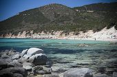 Sardinia. Tropical waters and rocks