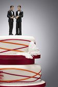 Groom Figurines on Wedding Cake