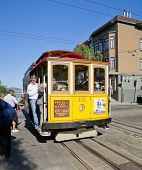 San Francisco - November 3Rd: The Cable Car Tram, November 3Rd, 2012 In San Francisco, Usa. The San