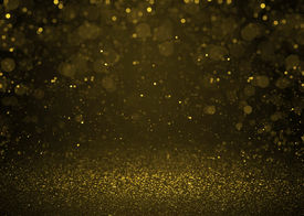 pic of cosmic  - Higlighted bokeh gold sparkle glitter background - JPG