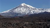 Beautiful Landscape Of Kamchatka: Active Tolbachik Volcano