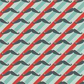 Seamless mustache pattern - vector barber shop texture