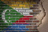Dark Brick Wall With Plaster - Comoros