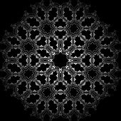 Art Seamless Symmetric Pattern On Black Background Vector