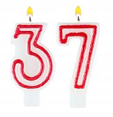 Birthday Candles Number Thirty Seven