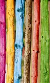Colorful wooden logs background