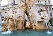 image of obelisk  - Fountain of the Four Rivers  - JPG