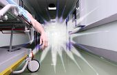 foto of time flies  - Dying patient and white light at the end of the corridor - JPG