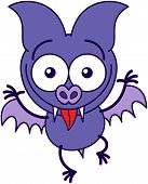 Purple bat making funny faces