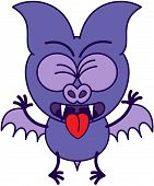 Purple bat feeling disgusted
