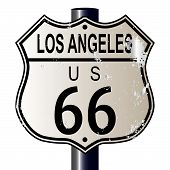 Los Angeles Route 66 Sign