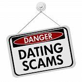 picture of hookup  - Dangers of Dating Scams Sign A red and black danger sign with the words Dating Scams isolated on a white background - JPG