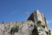 BUDVA, MONTENEGRO - JUNE 09, 2012: Old Budva city walls, Montenegro, on June 09, 2012