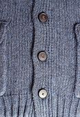 Dark Blue Knitting Woolen Pullover With Buttons For Background
