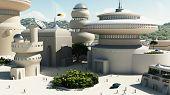 Futuristic Sci-Fi townscape