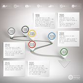 Timeline with pointer marks. Infographic for business design and website template