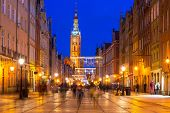 Historical city hall on the old town of Gdansk, Poland