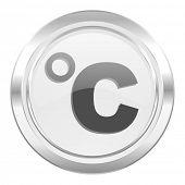 celsius metallic icon temperature unit sign