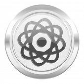 atom metallic icon