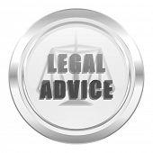 legal advice metallic icon law sign