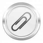 paperclip metallic icon