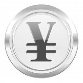 yen metallic icon