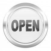 open metallic icon