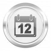 calendar metallic icon organizer sign agenda symbol