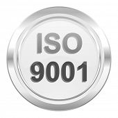 iso 9001 metallic icon