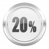 20 percent metallic icon sale sign