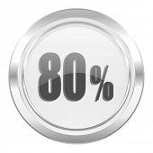 80 percent metallic icon sale sign