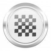 chess metallic icon