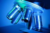 stock photo of close-up  - A close-up of a microscope in laboratory  - JPG